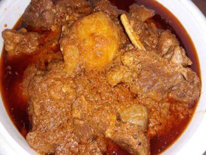 Mutton biryani curry