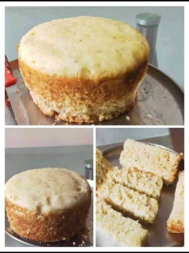 Suji Cake (Eggless Suji Cake Recipe)